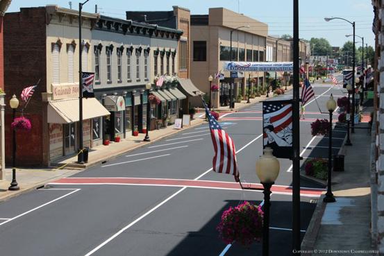 Downtown Campbellsville, Main-Street, July 2012