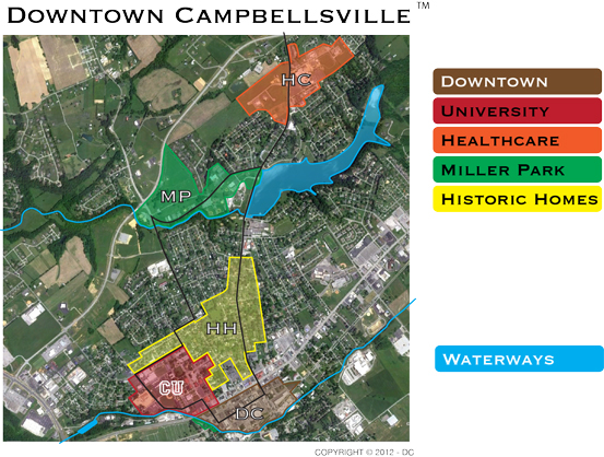 Downtown Campbellsville Local Layout Map
