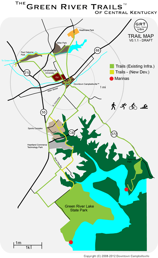 Green River Trails - full trail map
