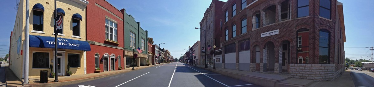 Downtown Campbellsville - Merchant Tower - panoramic
