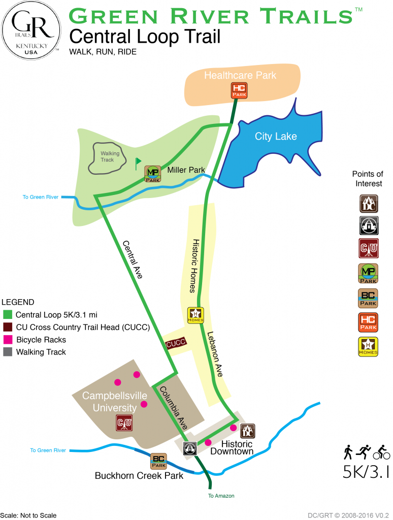 Green River Trails - Central Loop Trail - trail map